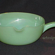 "1 Fire King Jadeite Jadite 7"" One Spout Handled Skillet ~MINT~"