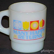 1 Fire King McDonald's Many Happy Returns Stacking Mug ~MINT~