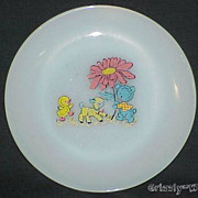 "Fire King Kiddie Mealtime 7 1/4"" Plate ~SUPER RARE ~ NEAR MINT~"