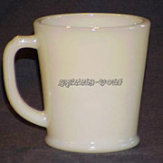1 RARE Fire King Creamy Ivory Philbe Wannabe D-Handle Mug ~EXC TO NEAR MINT~