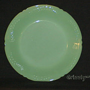 "1 Fire King Jadeite Sheaves Of Wheat 9"" Dinner Plate ~NEAR MINT~"