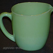 1 Fire King Jadeite Jadite 20 oz. Breakfast Set Milk Pitcher ~Excellent~