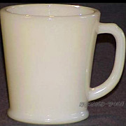 1 RARE Fire King Creamy Ivory Philbe Wannabe D-Handle Mug(s) ~RARE MINT~