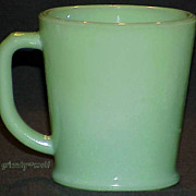 SOLD Fire King Jadeite Philbe Wannabe D-Handle Mug FireKing Jadite