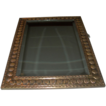 Antique European Brass Beveled Mirror