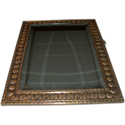 SALE Antique European Brass Beveled Mirror