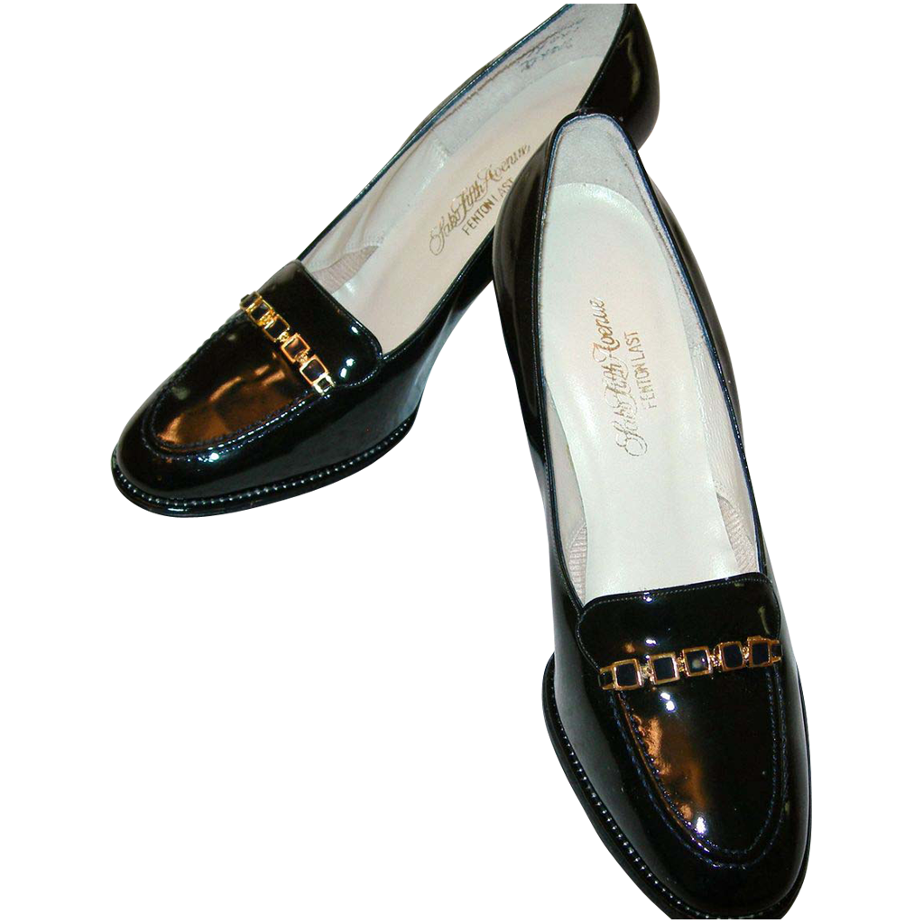 vintage saks fifth avenue patent leather shoes from