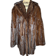 SALE Dark Ranch Mink Coat with beautifully embroidered lining...