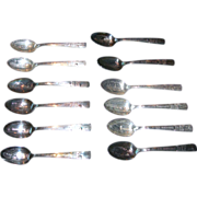 Complete Set of 1939 World's Fair Commemorative Spoons