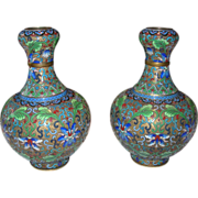 REDUCED Pair of Jingfa, Chinese Vases