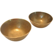 Pair of Chinese Brass Bowls