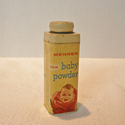 Vintage Mennen Baby Powder Tin