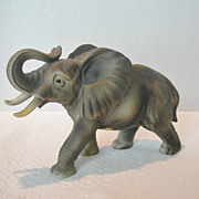 Ceramic African Elephant Figurine