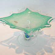 Large Italian Glass Bowl by Murano Glass