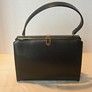REDUCED Vintage Black Lederer Handbag in Excellent Condition
