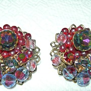 SALE Colorful Vintage Earrings