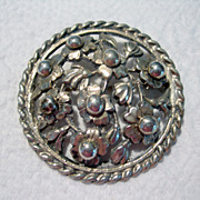 SALE Large Handmade Sterling Silver Brooch