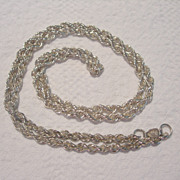 SALE Mexican Sterling Twisted Chain Necklace