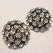 Vintage Marvella Cluster Clip Earrings