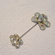 Large Vintage Stick Pin with Tear-drop Stones