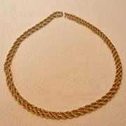 Vintage Signed Monet Chain Necklace