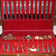 REDUCED 104 Piece Set of International Sterling Flatware...service for 12!