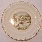 A Pair of Harker Ware Dessert Plates