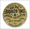 The Brooklyn Times Tin Advertising Pin Keep - Pin Flat - Pin Holder - Pin Disc - Pin Cushion - Pincushion