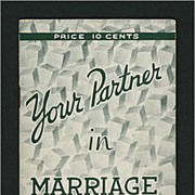 Your Partner in Marriage by Daniel A. Lord S. J. - 1930's  Catholic Sodality Advice Booklet