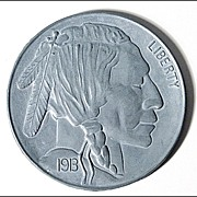 Giant Buffalo Indian Head Nickel Paperweight