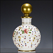 Hand Painted Opaline Glass Perfume Bottle - Scent Container
