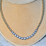 14 Karat yellow & white gold 2 carat Diamond Necklace