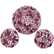 Stunning CROWN TRIFARI Pink Rhinestone Brooch and Clip Earrings