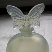 Chamart Scent Bottle with Butterfly Stopper - Vintage