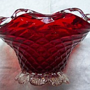 Venetian Glass Bowl with Applied Base