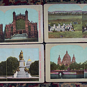 Set of Four Stereoview Cards - Scenic Views