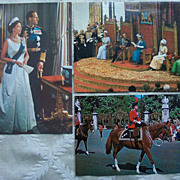 Set of Two Queen Elizabeth Colored Photo Postcards and Bonus  Dutch Princes Day