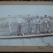 Railroad Worker Cabinet Card - Early 1900's