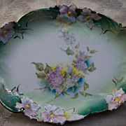 Unmarked Lovely Dresser Tray with Lilacs