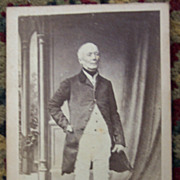 Man in Fox  Hunting  Attire CDV