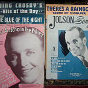 Al Jolson and Bing Crosby Sheet Music and Folios