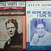 Rudy Vallee Vintage Sheet Music