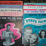 Lot of Vintage Sheet Music of Songs from Movies