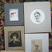 Set of Five Small Portraits of Women  - One CDV
