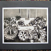 Large Post Mortem Casket Viewing Cabinet Card - Little Boy