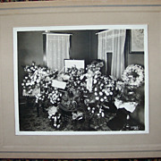 Large Cabinet Card of Post Mortem Casket Viewing - Elderly Woman