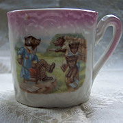 Pink Luster Child's Mug with Bears