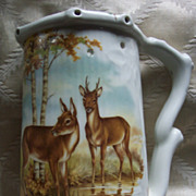 Schedel Lithopane Puzzle Stein with Stag and Does - Bavaria