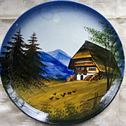 German Hand Painted Plate