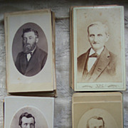 Lot of 82 CDV Cards of Men - 1860's